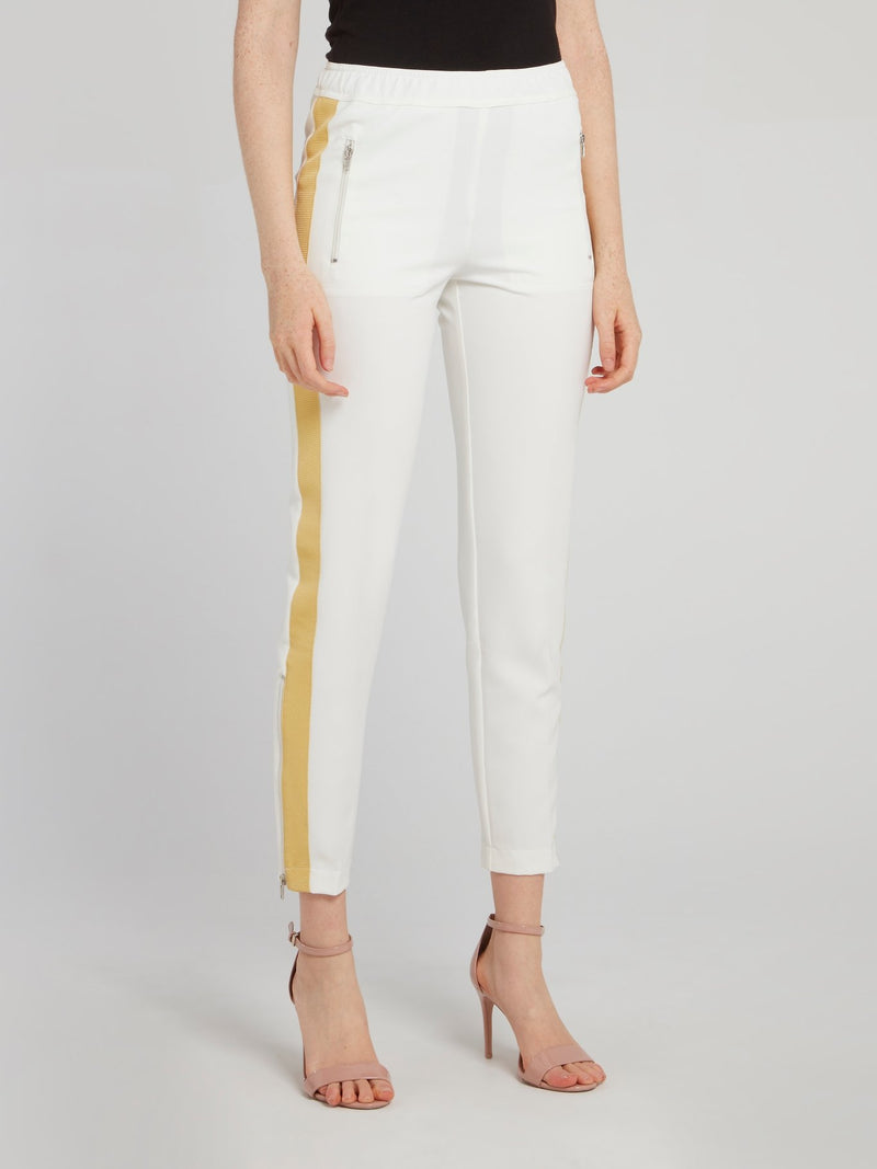 White Side Tape Waistband Trousers