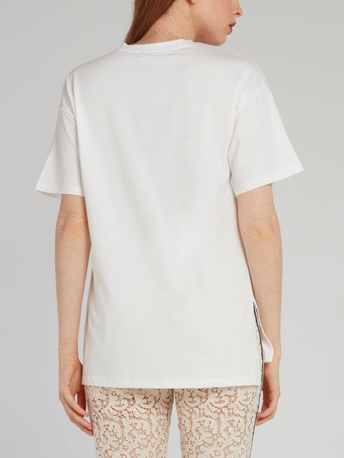 White Printed Logo T-Shirt