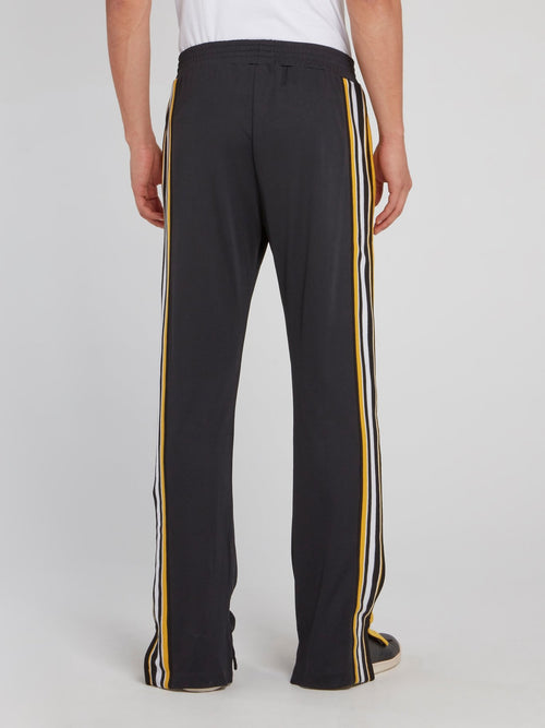 Black Side Stripe Tunnel Trousers