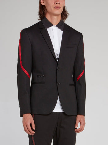 Logo Lining Two-Button Blazer