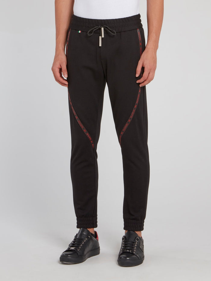 Black Logo Tape Jogging Trousers