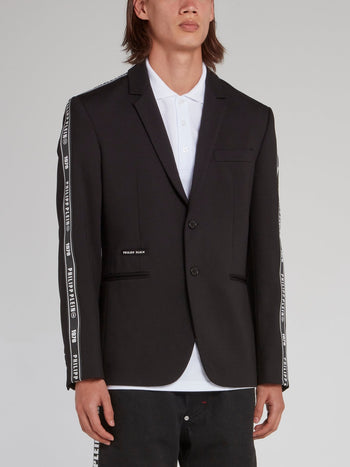 Logo Tape Two-Button Blazer