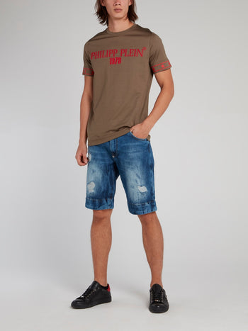 Skull Pocket Distressed Bermudas