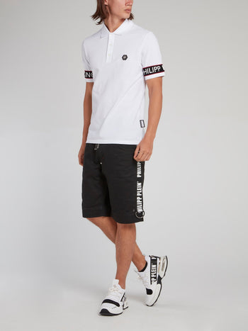 White Logo Edge Polo Shirt