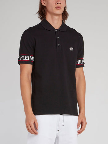 Black Logo Edge Polo Shirt