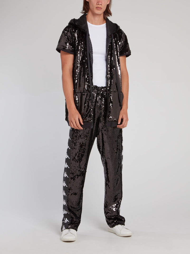 Kappa Black Sequin Pants
