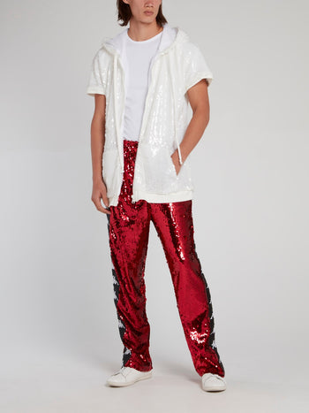 Kappa Red Sequin Pants