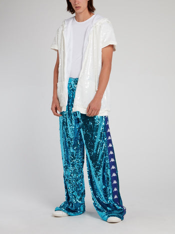 Kappa Blue Sequin Baggy Pants