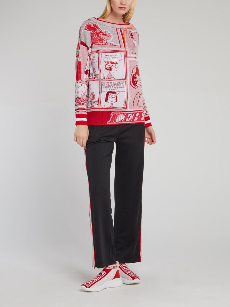 Snoopy Red Sequin Knitted Top