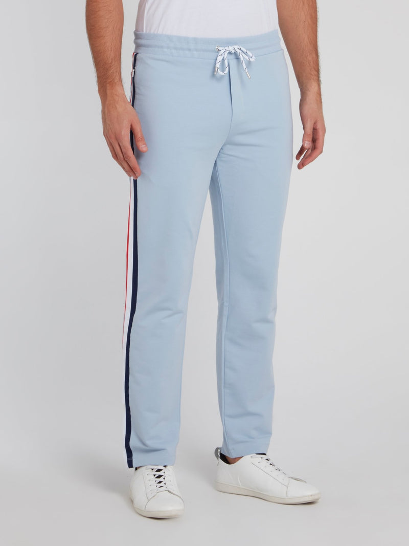 Blue Side Stripe Active Fleece Pants
