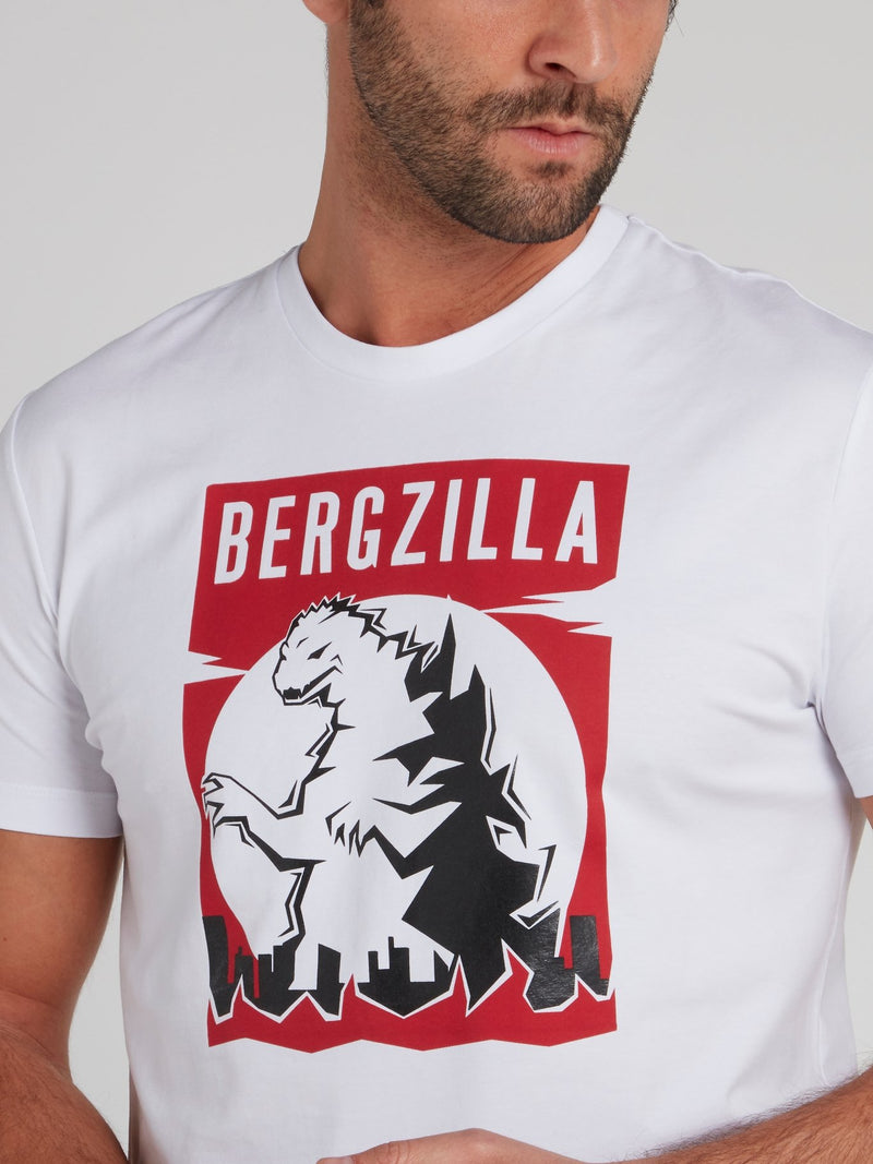 Bergzilla White Graphic T-Shirt