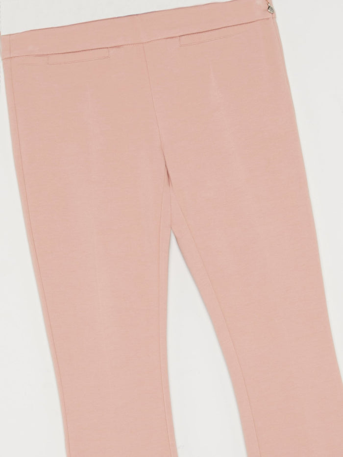 Pink Flared Waistband Trousers