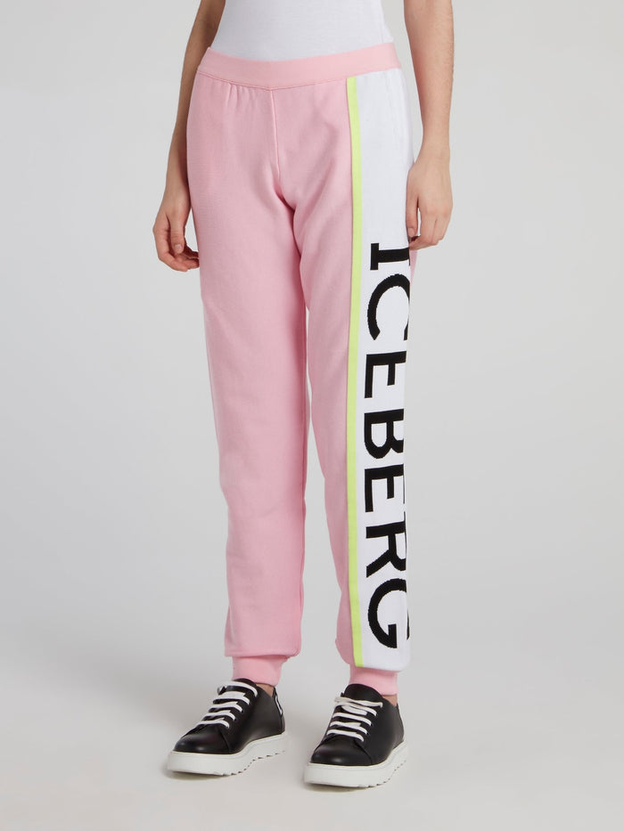 Pink Side Logo Active Pants