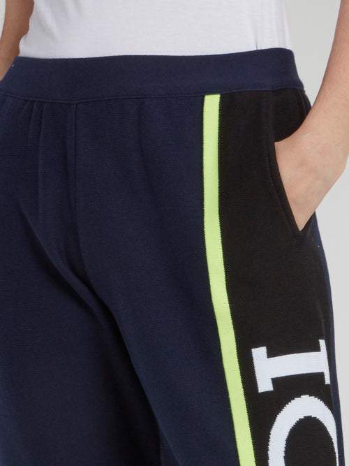 Navy Side Logo Active Pants