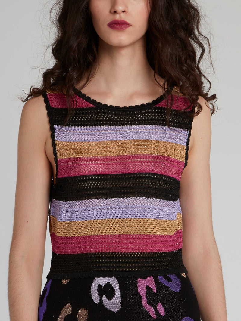 Stripe Bodice Knitted Max Dress