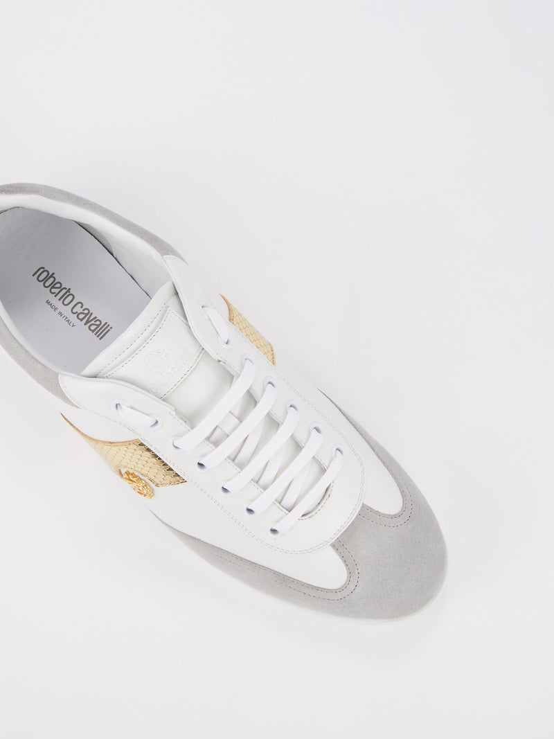 Colour Block Snake Panel Sneakers