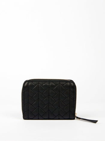 Black Nappa Quilted Wallet