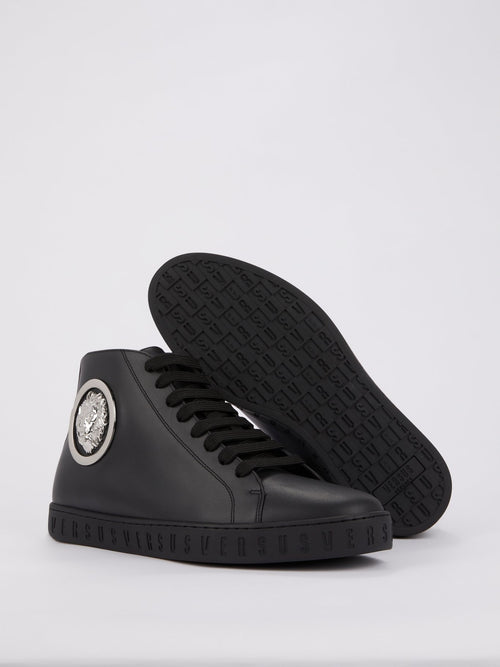 Black High Top Embellished Sneakers