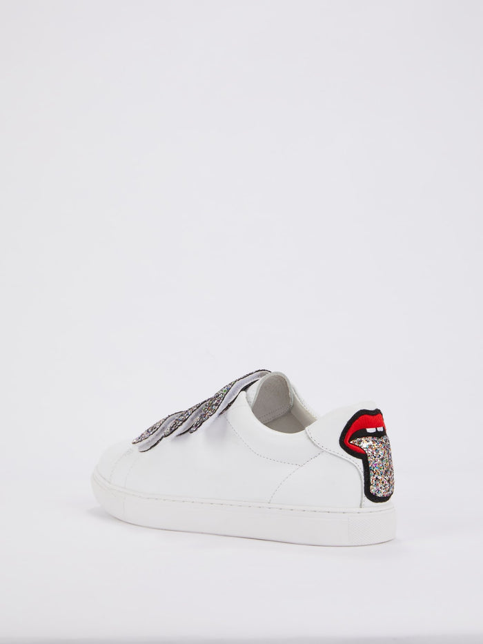 Edith Glitter Multi-Strap Sneakers
