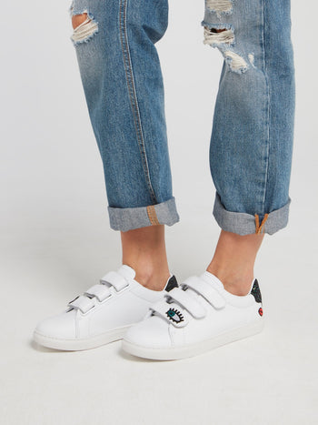 Edith Sequin Heel Patch Sneakers