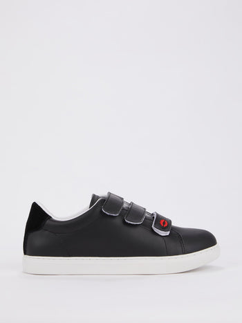 Edith Black Multi-Strap Sneakers