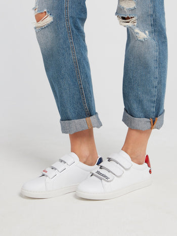 Edith Mismatched Heel Patch Sneakers