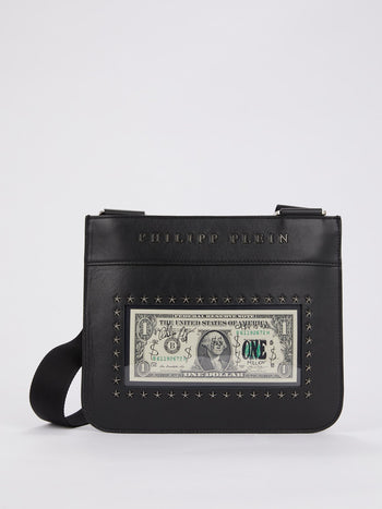 Black Dollar Crossbody Bag