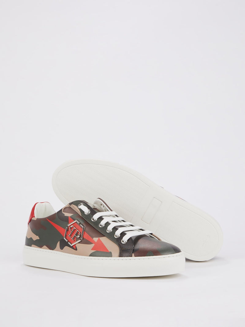 Thunder Camo Leather Sneakers