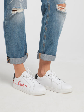 Simone Lace Up Low Top Sneakers