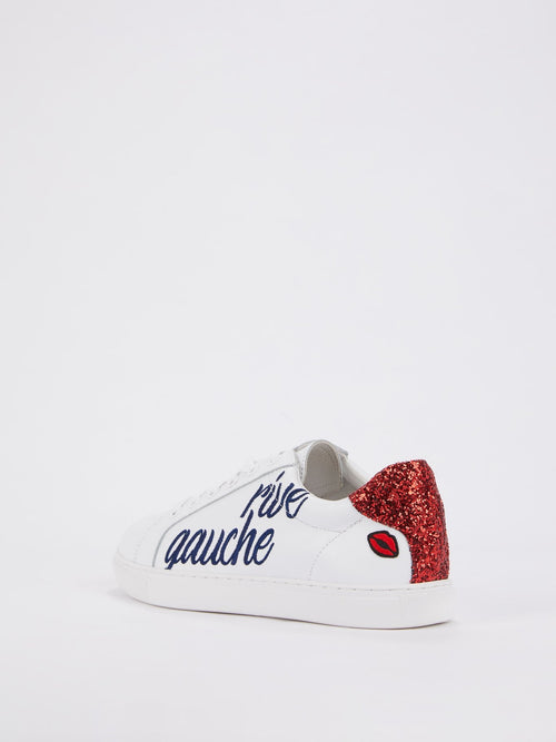 Simone Mismatched Sequin Heel Patch Sneakers