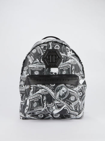Black Dollar Skull Backpack