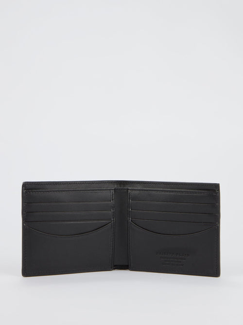 Black Star Studded French Wallet