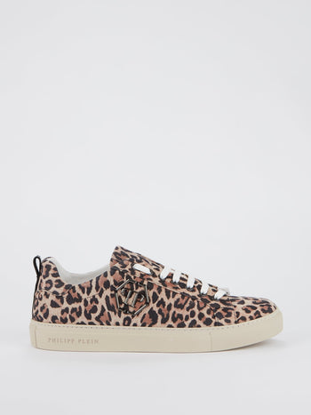 Leopard Print Low Top Sneakers