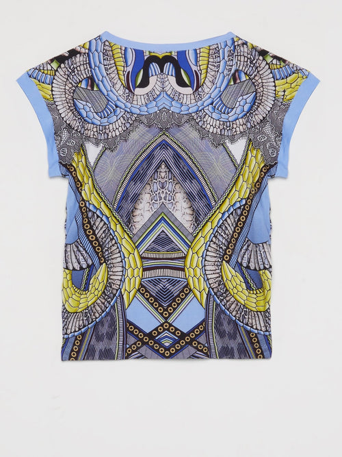 Pattern Print Sleeveless Top