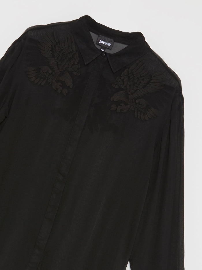 Black Eagle Print Shirt