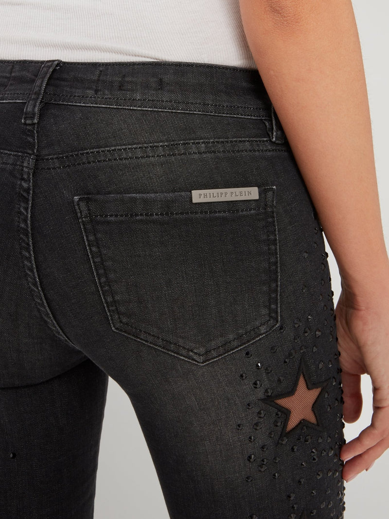Keira Syll Black Studded Jeggings