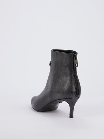 Black Snake Head Ankle Boots