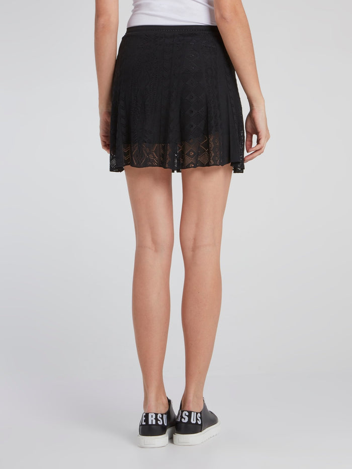 Black Lace Mini Skirt