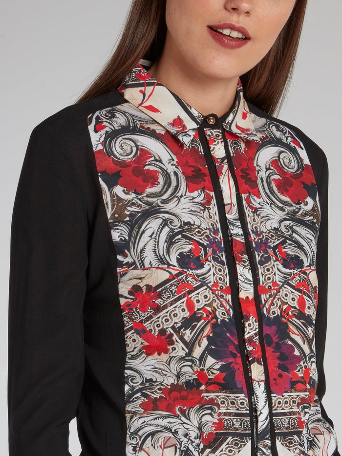 Baroque Panel Long Sleeve Shirt
