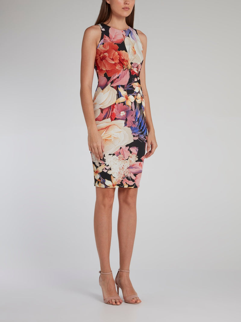 Corsage Keyhole Bodycon Dress