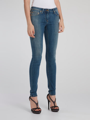 Blue Classic Skinny Jeans