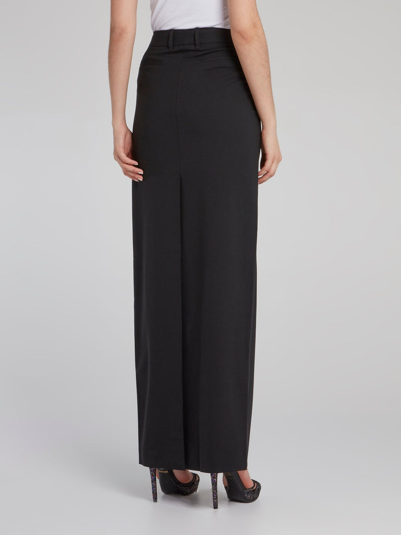 Black High Waist Maxi Skirt
