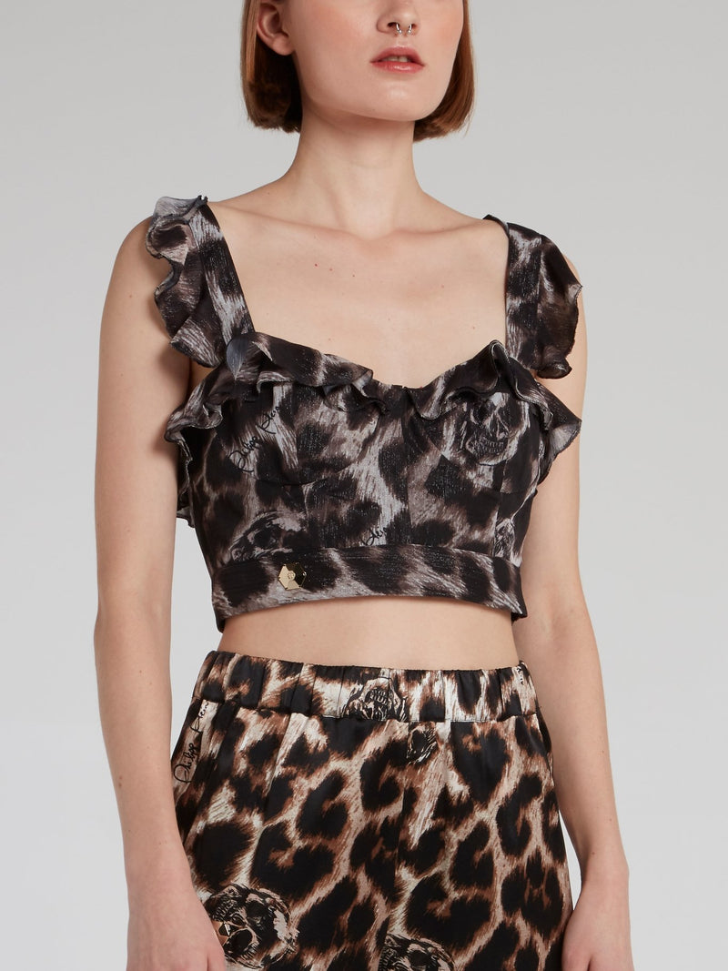 Maculate Frill Cropped Top