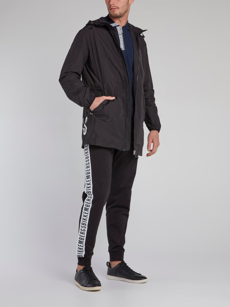 Black Logo Tape Sweatpants