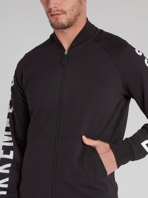 Black Side Logo Active Suit