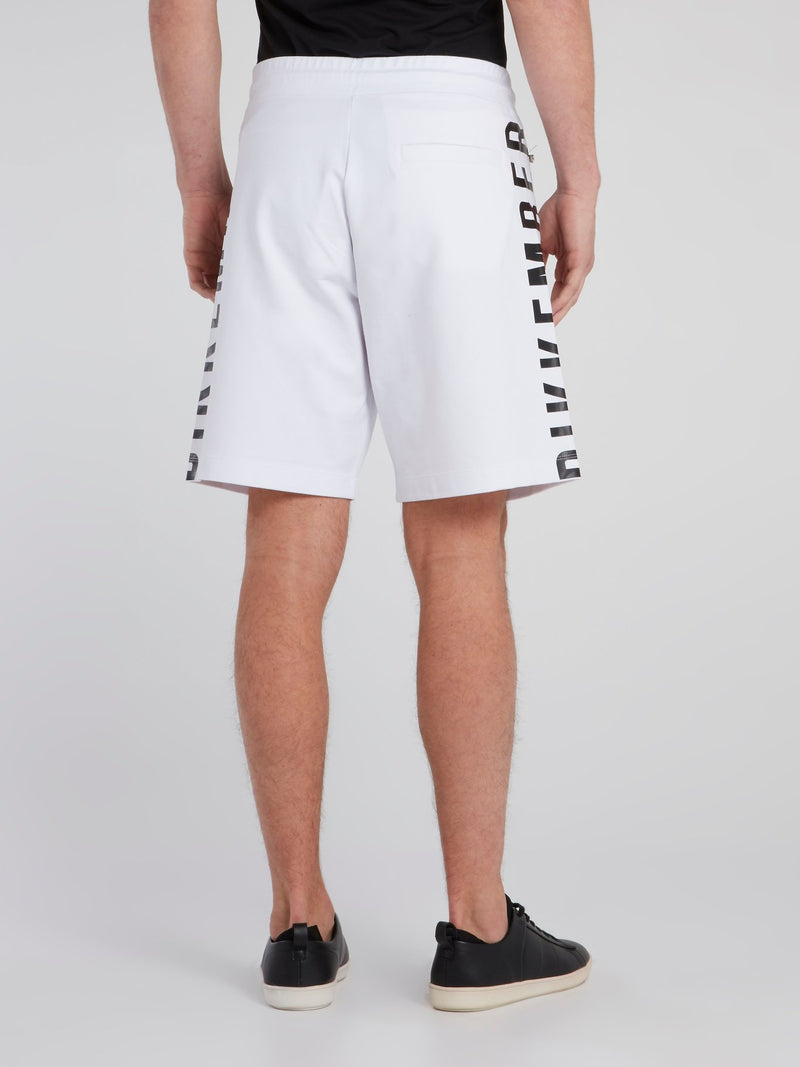 White Side Logo Sweatshorts