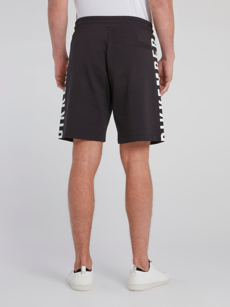 Black Side Logo Sweatshorts