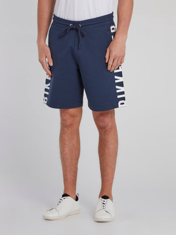 Navy Side Logo Sweatshorts