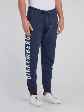 Navy Side Logo Sweatpants