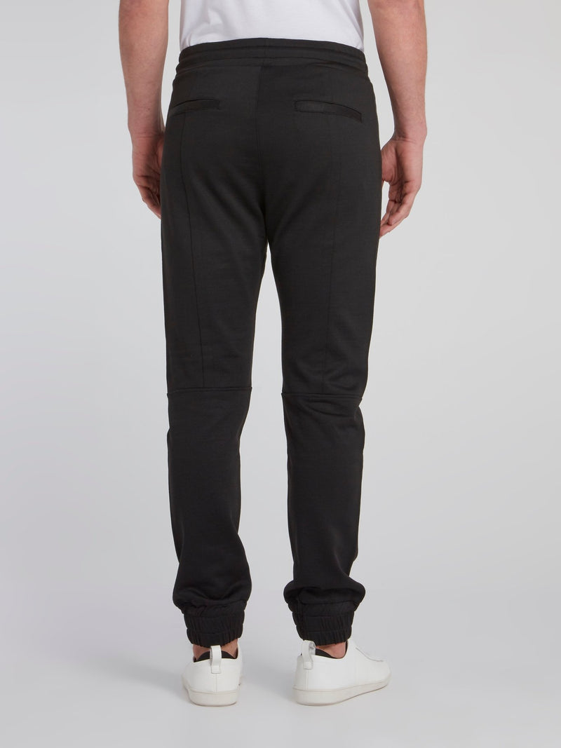 Black Panelled Active Pants
